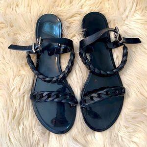 🌺Givenchy black Gel sandals